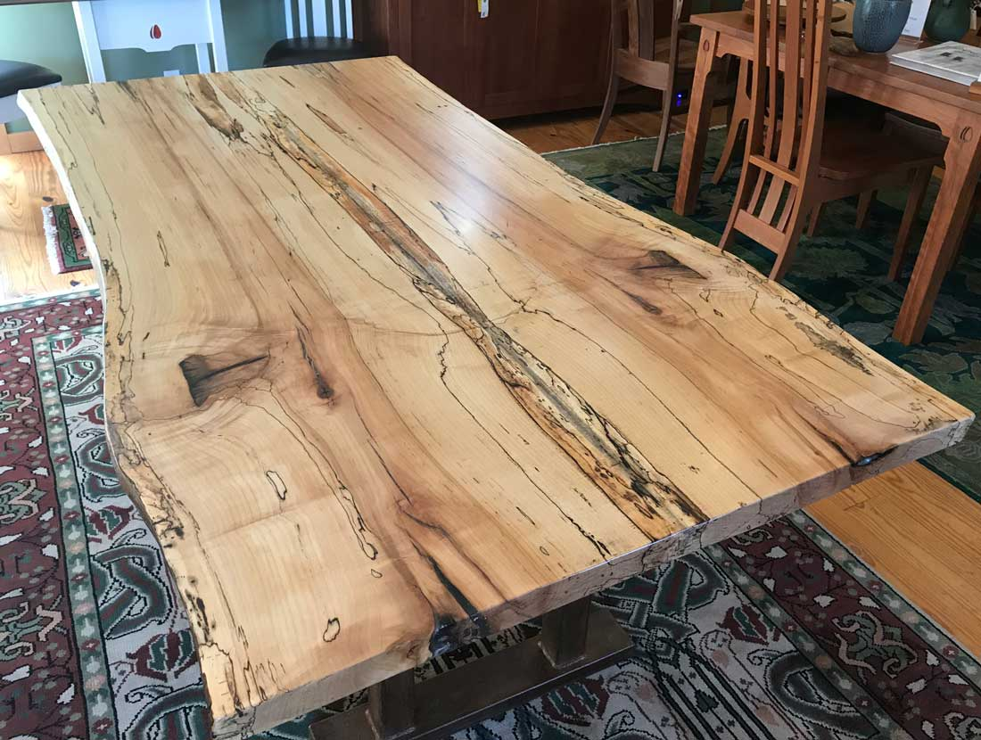 Spalted Maple Live Edge Dining Table