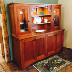Skara Brae Cherry & Leaded Glass China Cabinet