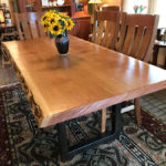 Hand-Planed, Live-Edge Cherry Dining Table