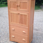 Cherry Leaf Armoire Desk Closed