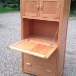 Cherry Leaf Armoire Desk