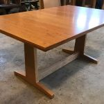 Contemporary Trestle Table, Cherry