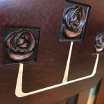 Glasgow Rose Carving Inlay Detail Lr