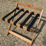 Custom quarter-sawn white oak luggage rack