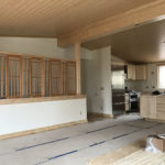 Custom maple divider and kitchen cabinets
