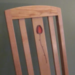 Rosebud Dining Chair, cherry with wood seat