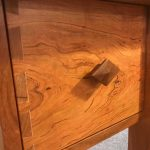 Rosebud Cherry Desk Drawer Pull Detail Lr