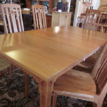 Rosebud Cherry Dining Table With Leaves