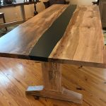 Spalted Maple River Table Angle
