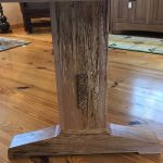Spalted Maple River Table Leg