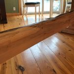 Spalted Maple River Table Trestle