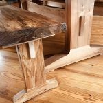 Spalted Maple Table Bench End Detail