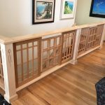Maple and Cherry Stair Rail with Inlays