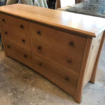 Custom quarter-sawn white oak TV stand & dresser