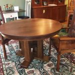 Taylor Quarter-Sawn Oak Pedestal Table