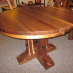 Valmont Round Walnut Dining Table with Leaves