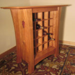 Vineyard Cherry Wine Cabinet with Inlays