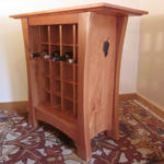 Vineyard Wine Cabinet side view
