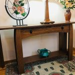 Quarter-Sawn Oak Console Table