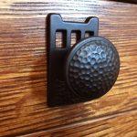 Hammered Iron Knob On Tran Console Lr