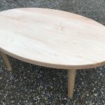 Oval Maple Coffee Table