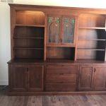Quarter-Sawn White Oak Bookcase Cabinet