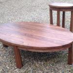 Custom Walnut Occasional Tables