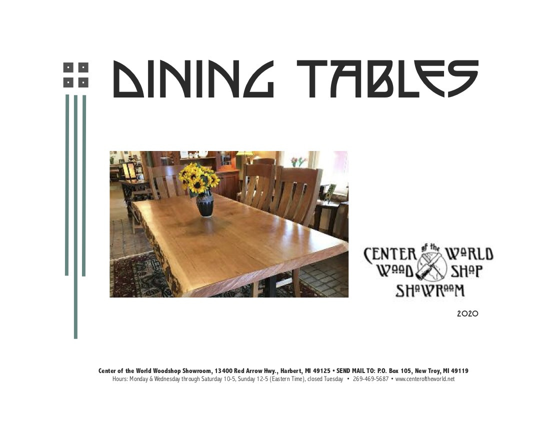 Dining Table Catalog Cover
