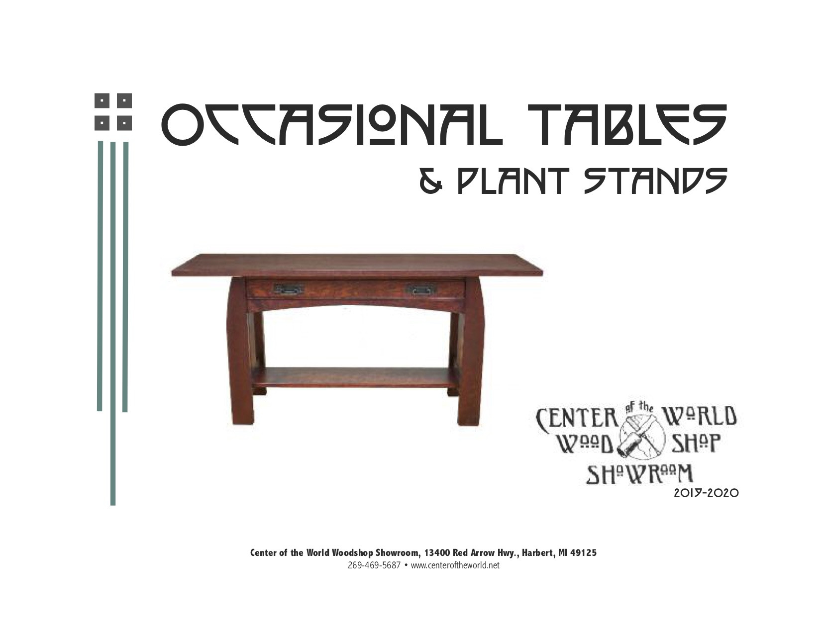 Occasional Table Catalog Cover 2019