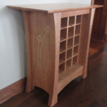 Custom Rosebud Wine Rack