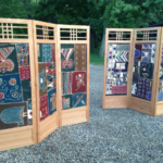 Custom Folding Screens with Batik Insets