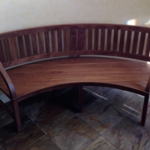 Custom Curved Bench