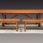 Hastings Quarter-Sawn Oak Trestle Dining Table & Benches