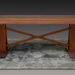 ​Hillcrest Plank-Top Cherry Harvest Table