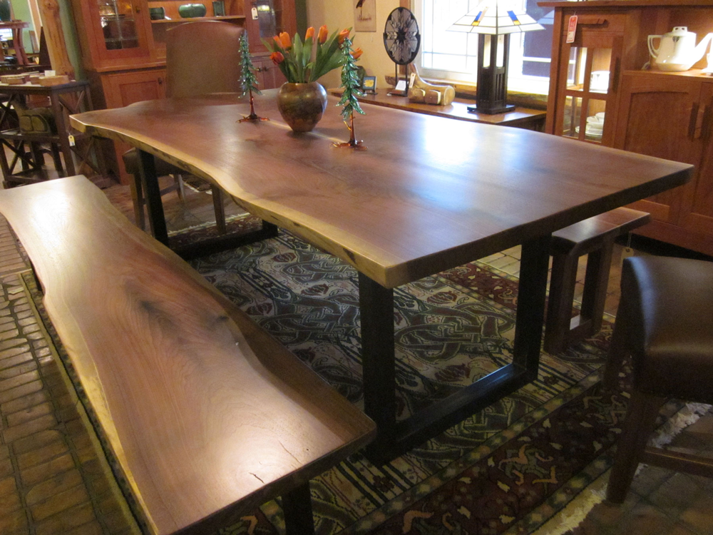 Live Edge Dining Room Table. Walnut Live Edge Side devMode  Dining Table
